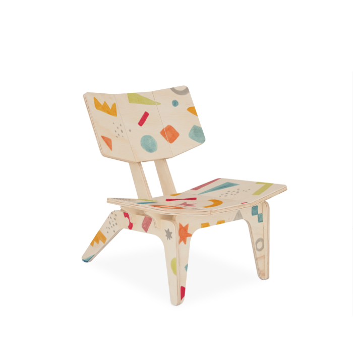Cadeirinha Infantil Carambelinha Luciana Gnoatto Abstract Play Pastel | FITTO DESIGN