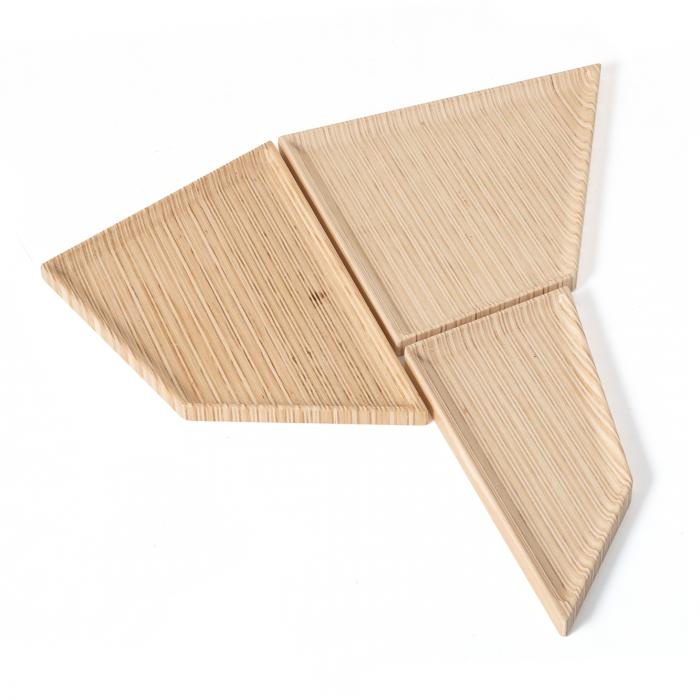 Bandeja Nordic Conjunto 3 peças 7072 | FITTO DESIGN
