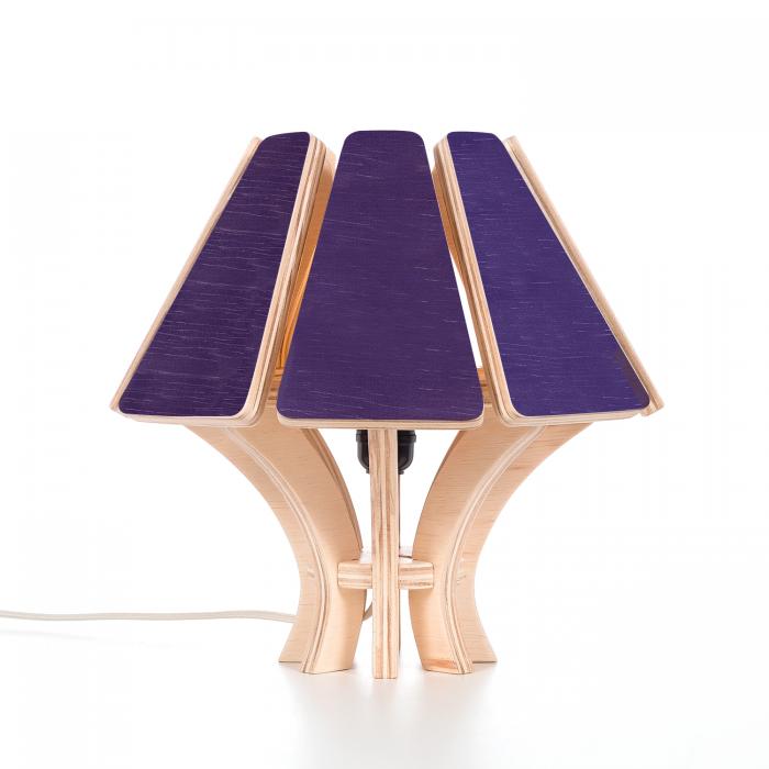 Abajur Mycena CB Violeta | FITTO | Madeira, Design e Arte