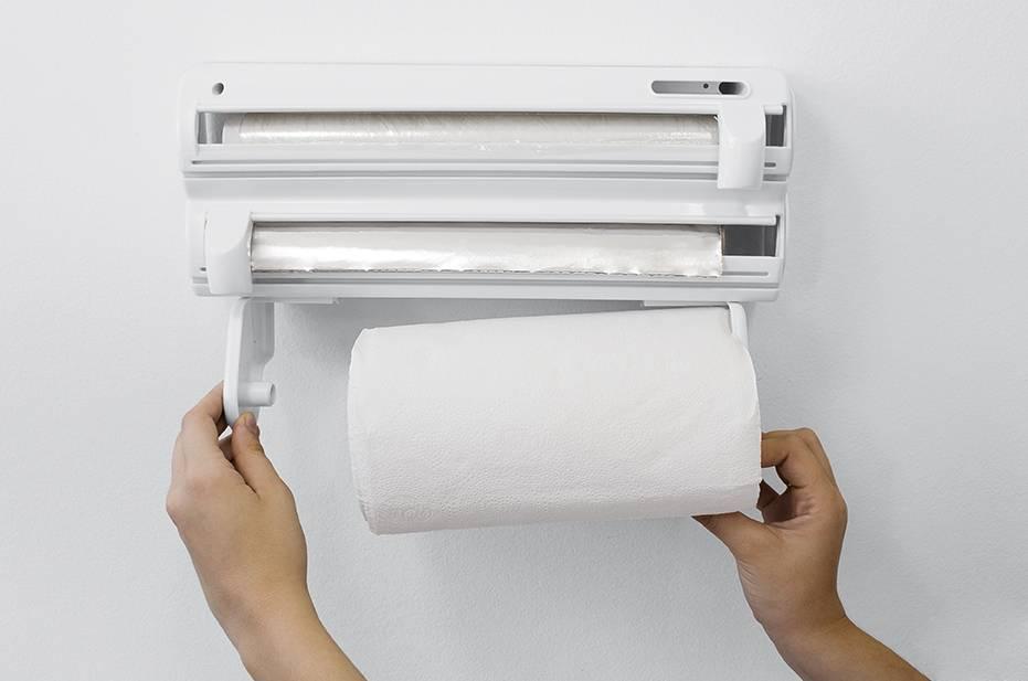 Porta-Rolos Roll-up 3x1 Branco c/ Puxador