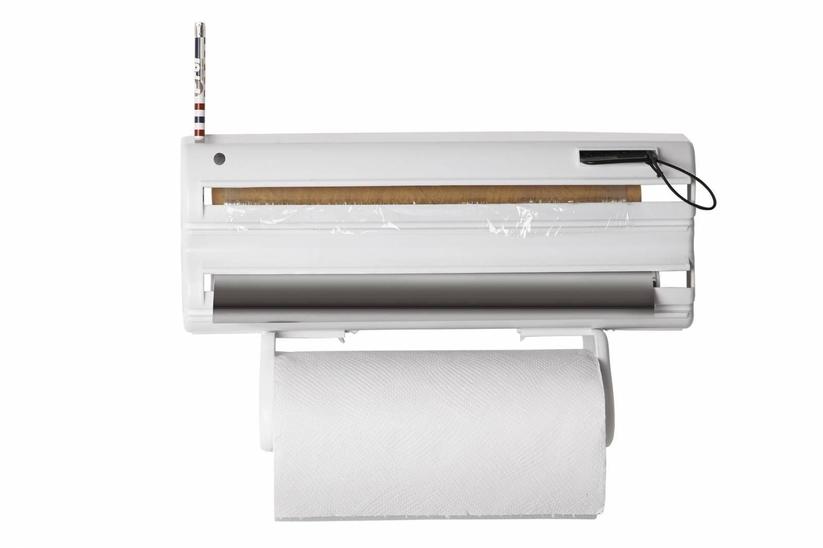 Porta-Rolos Clean 5x1 Branco c/ Extensor