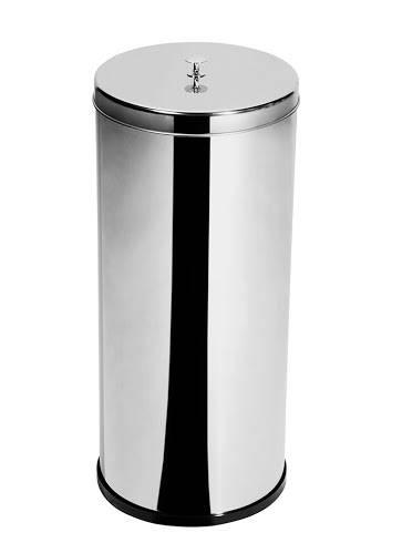 Lixeira Inox c/ tampa e puxador 14 Litros - Elegance