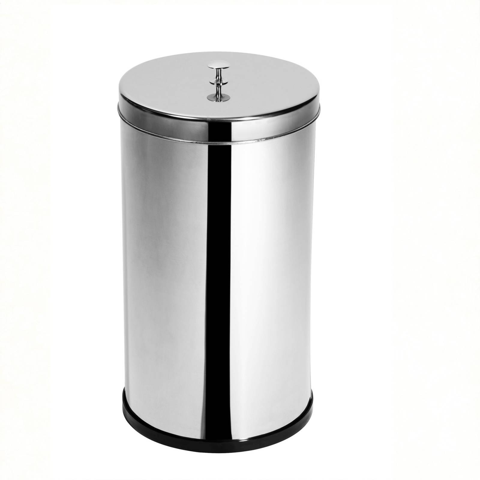Lixeira Inox c/ tampa e puxador 10 Litros - Elegance