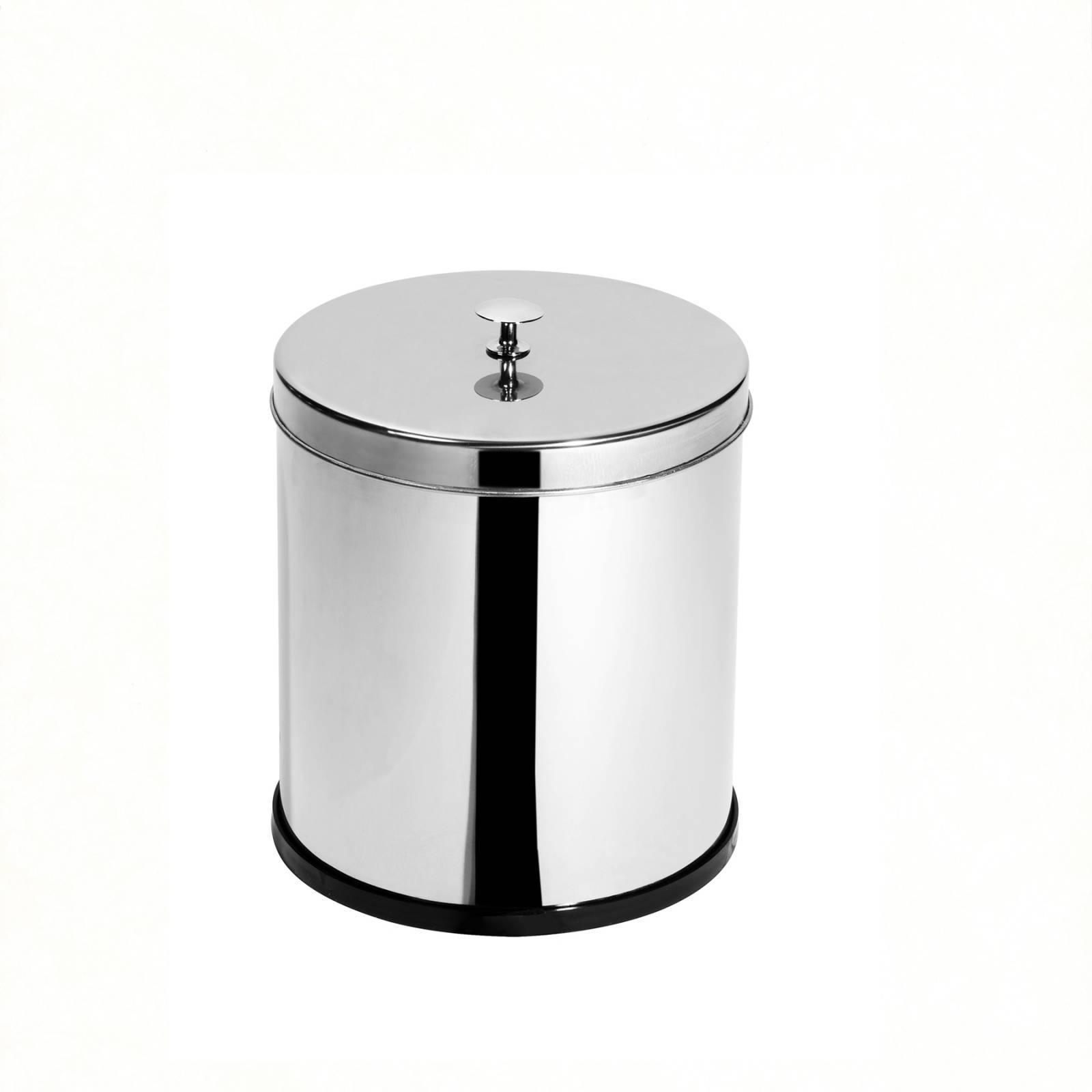 Lixeira Inox c/ tampa e puxador 6,9 Litros - Elegance