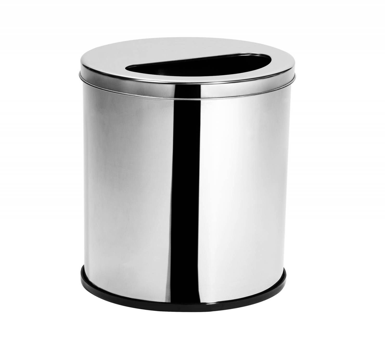 Lixeira Inox c/ tampa 1/2 Lua 6,9 Litros - Elegance