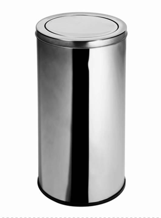 Lixeira Inox c/ tampa Basculante 30 Litros - Elegance