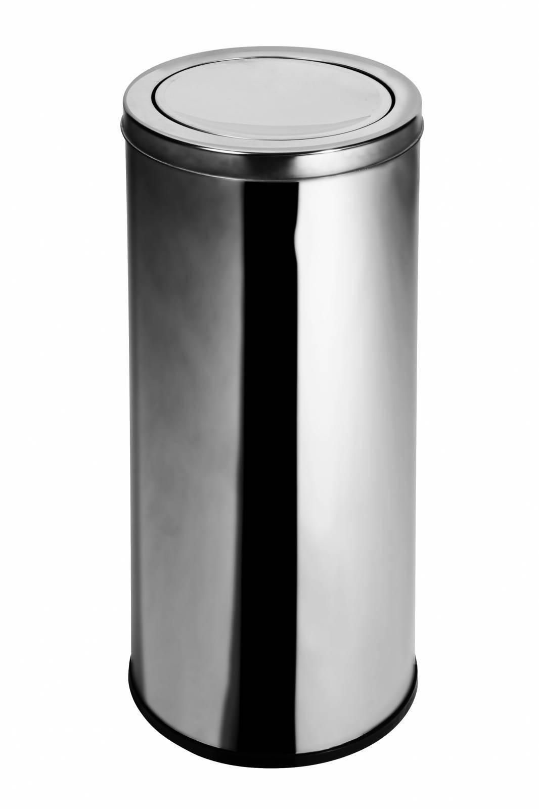 Lixeira Inox c/ tampa Basculante 22 - Litros Elegance