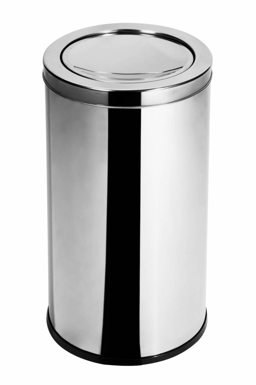 Lixeira Inox c/ tampa Basculante 14 - Litros Elegance