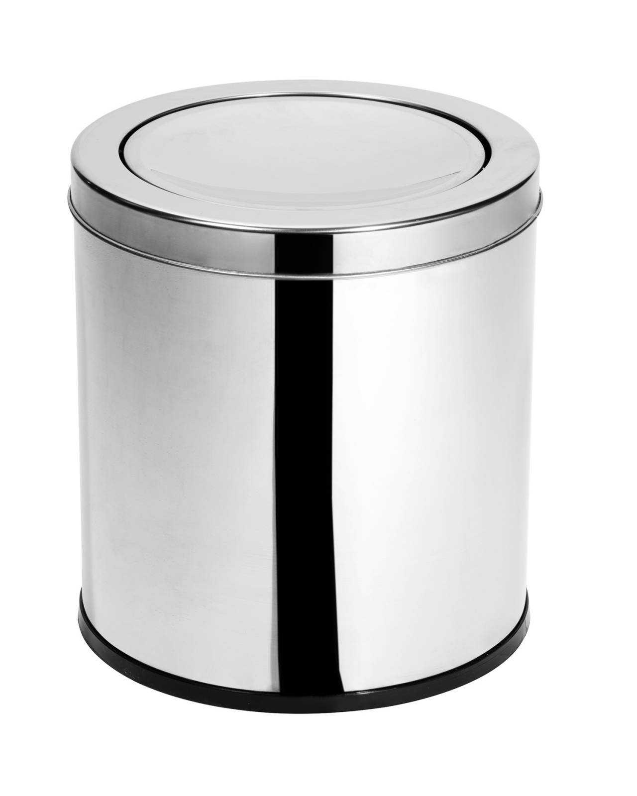 Lixeira Inox c/ tampa Basculante 12,7 - Litros Elegance