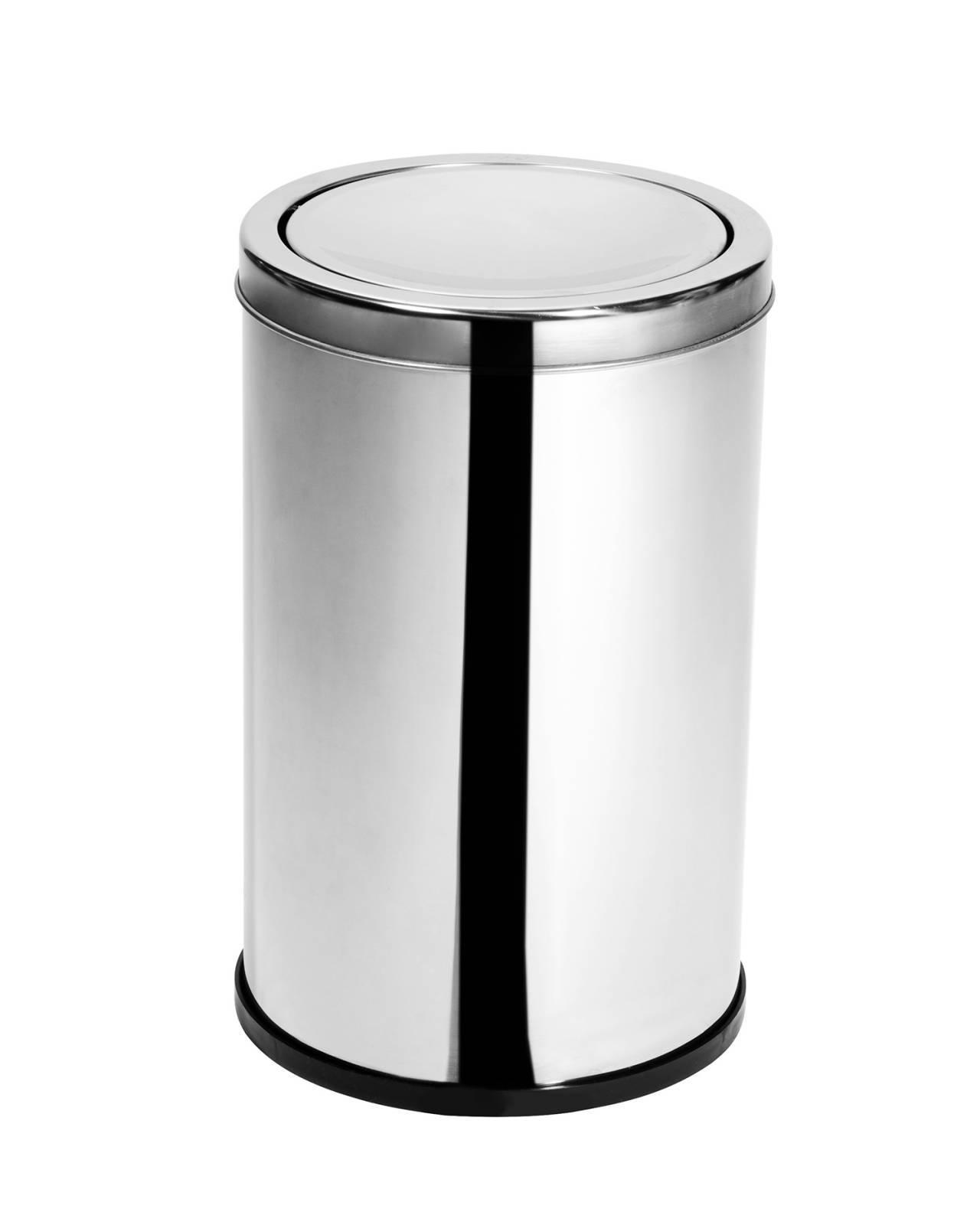 Lixeira Inox c/ Tampa Basculante 10 Litros - Elegance
