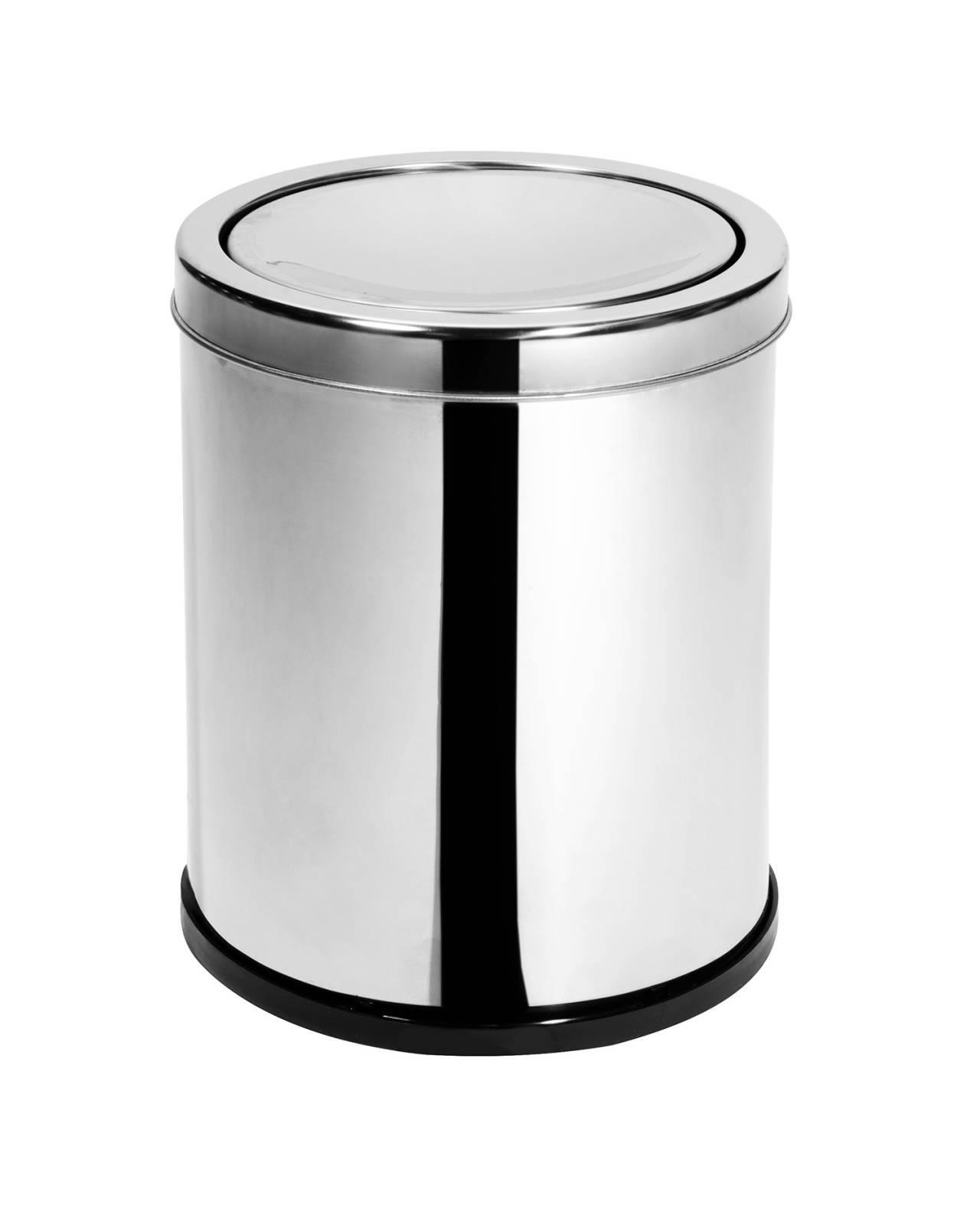 Lixeira Inox c/ tampa Basculante 6,9 Litros - Elegance