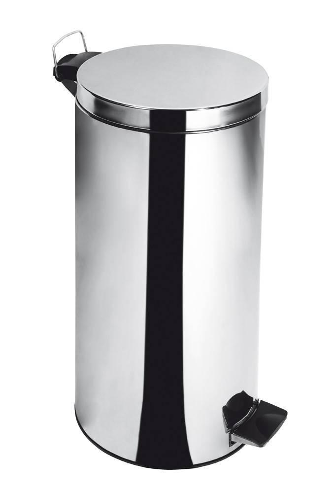 Lixeira Inox c/ Pedal e Balde Elegance - 30 Litros