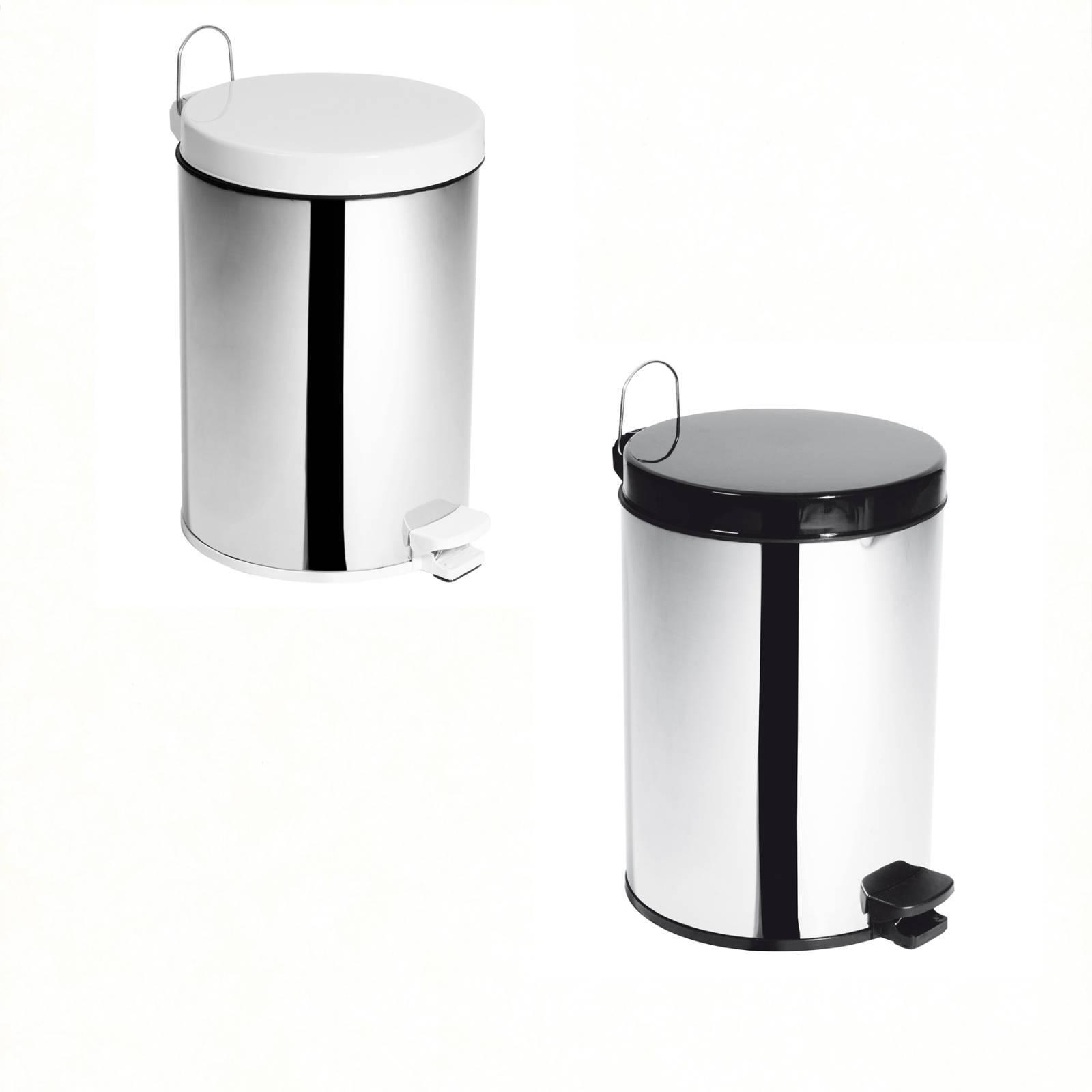 Lixeira Inox c/ Pedal e Balde Decorline - 10,5 Litros (Unidade)