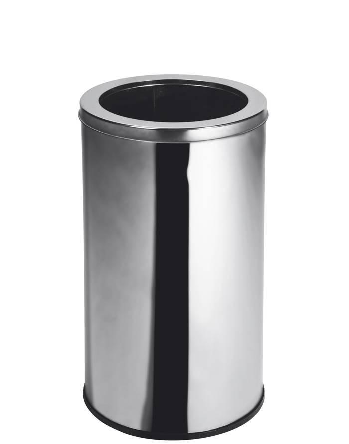 Lixeira Inox 30 cm x 50 cm c/ Aro - 35 Litros Elegance