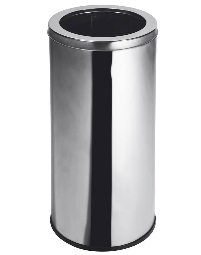 Lixeira Inox 30 cm x 70 cm c/ Aro - 50 Litros Elegance
