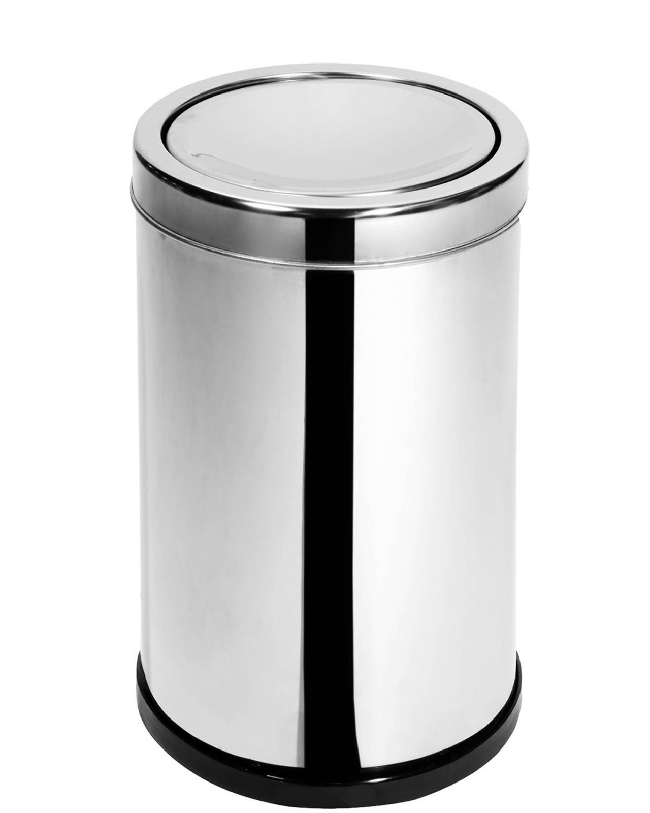 Lixeira Inox 30 cm x 50 cm c/ Tampa Basculante - 35 Litros Elegance