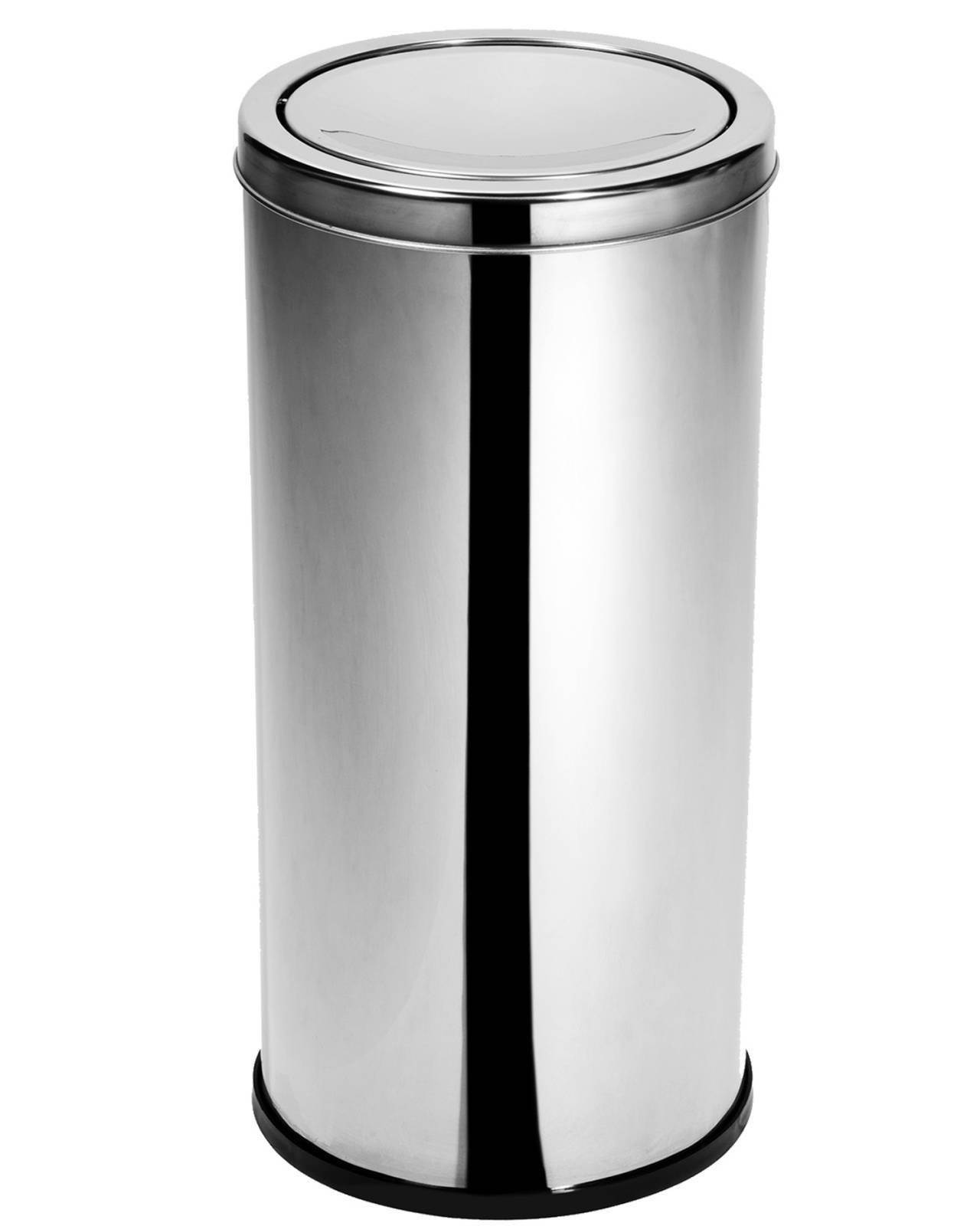 Lixeira Inox 30 cm x 70 cm c/ Tampa Basculante - 50 Litros Elegance