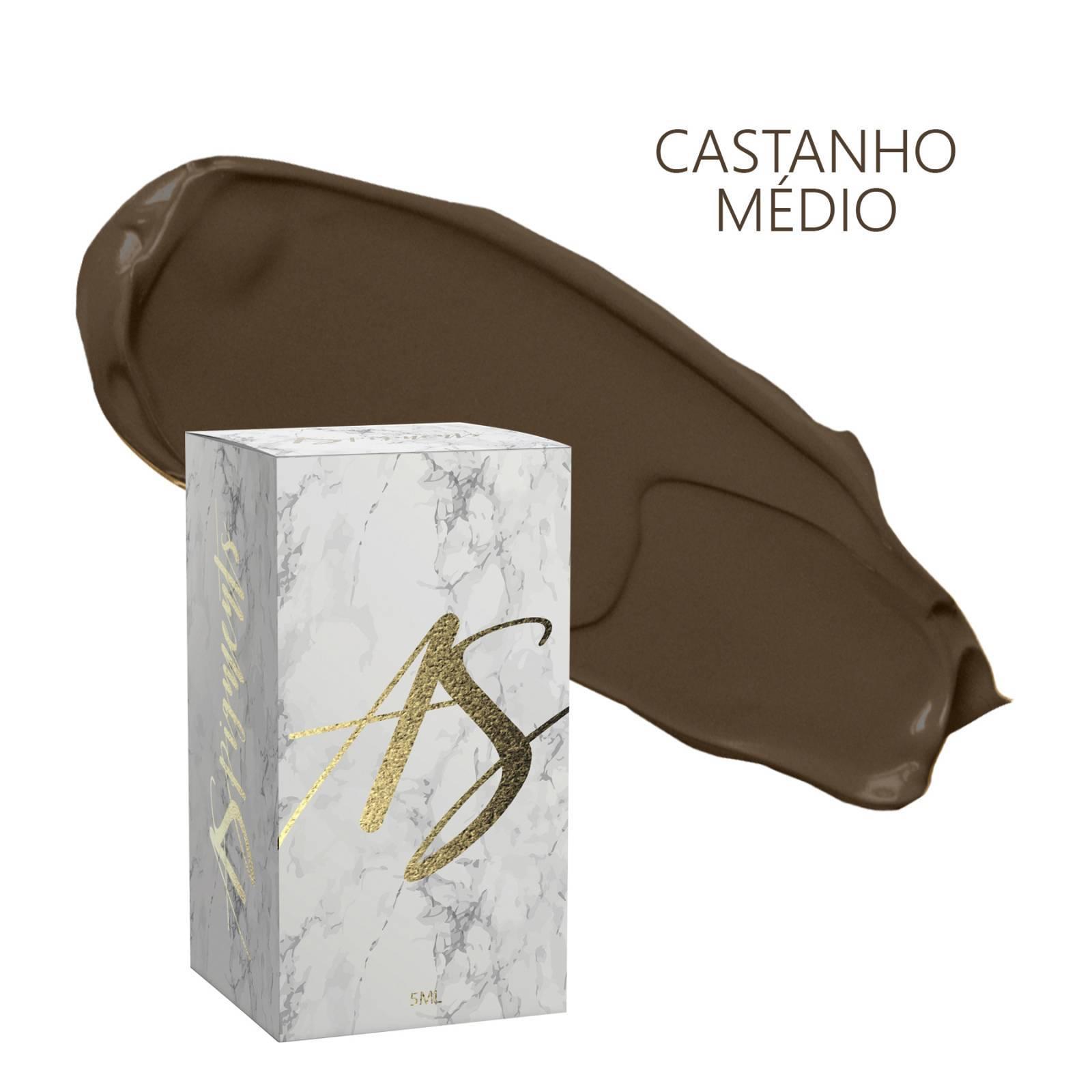 Pigmento Castanho médio frio- embalagem 5 ml - Loja Ana Paulla