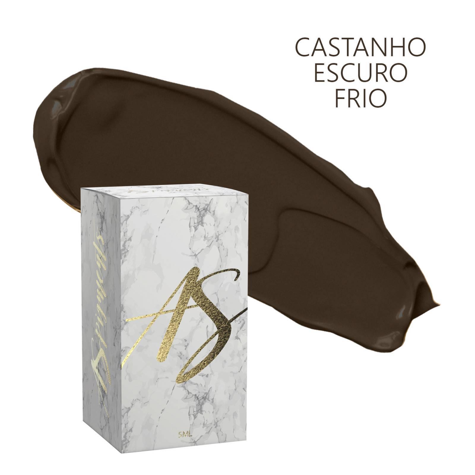 Pigmento Castanho escuro frio- embalagem 5 ml - Loja Ana Paulla