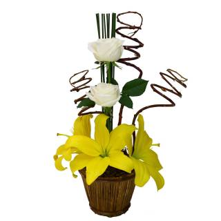 Lírios e Rosas | Florisbella Floricultura