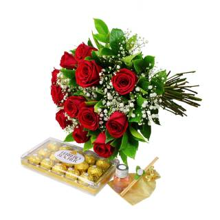 Kit Romance a Antiga | Florisbella Floricultura