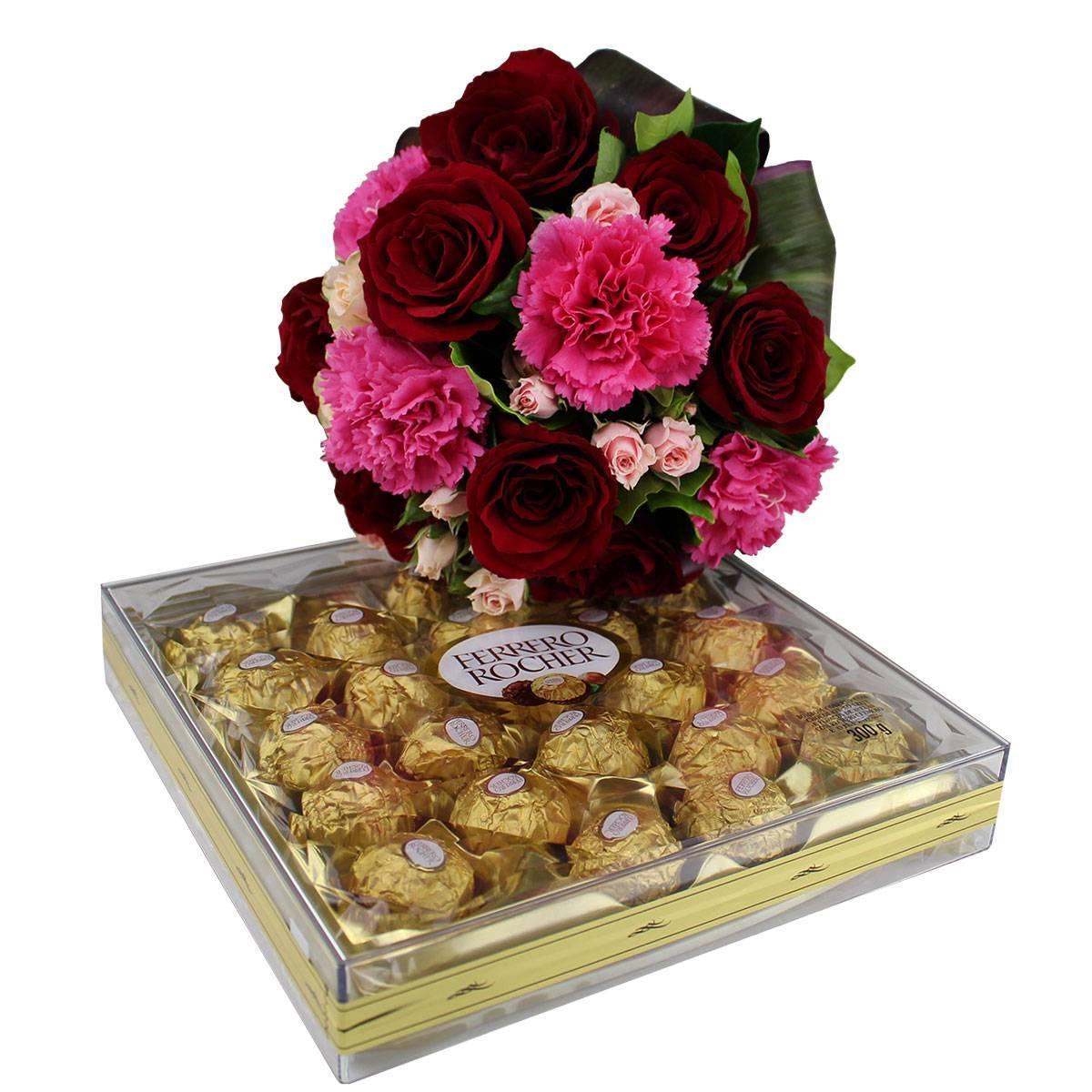 Cravos Eu Te Amo com Ferrero  - Florisbella - Matriz Campinas