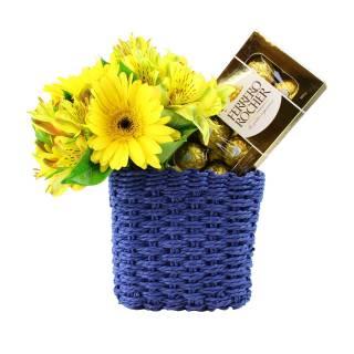 Por do Sol e Ferrero | Florisbella Floricultura