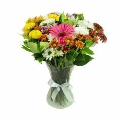 Buquê Flores do Campo no Vaso