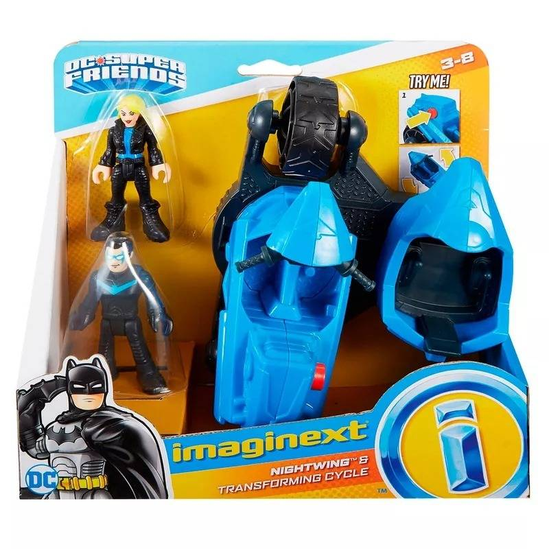 Nightwing DC Super Friends Imaginext - Fisher-Price FGV84 - Noy Brinquedos