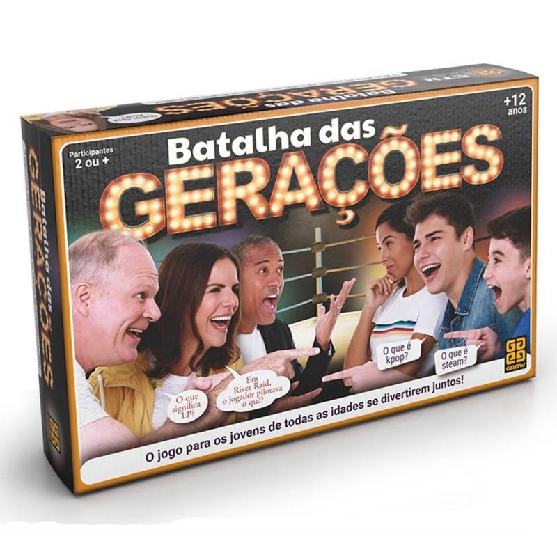 Jogo Batalha Das Gerações - Grow 03583 - Noy Brinquedos
