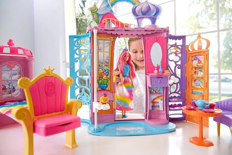 Castelo Arco Íris Barbie - Mattel FRB15 - Noy Brinquedos