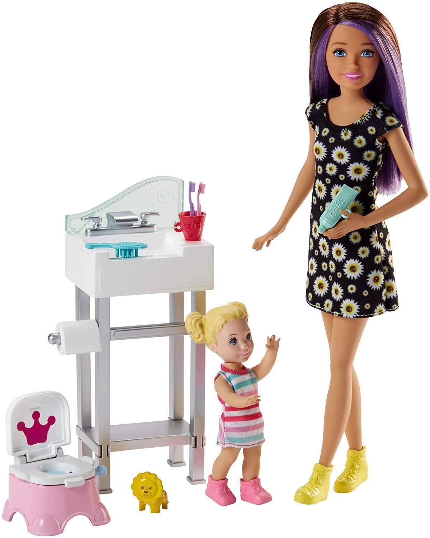 Peniquinho BabySitter Skipper Barbie - Mattel FJB01 - Noy Brinquedos
