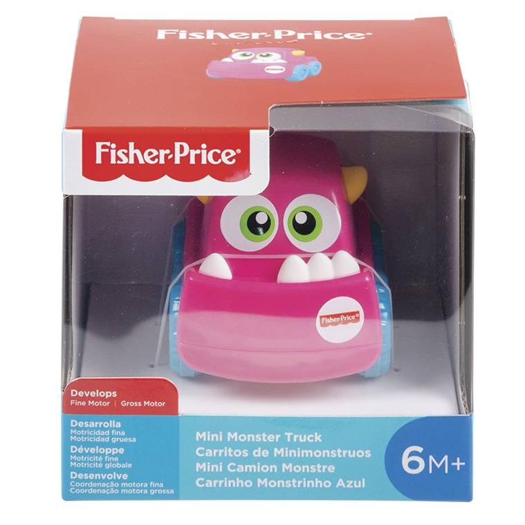 Carrinho Monstrinho Rosa Fisher-Price - Mattel GHB12 - Noy Brinquedos