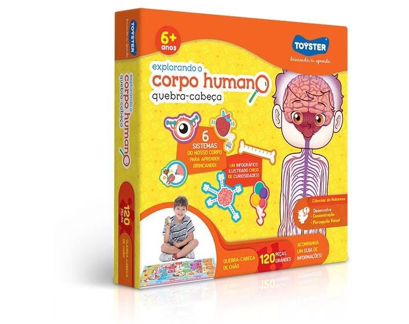 Quebra-Cabeça Explorando Corpo Humano 120 Pçs - Toyster 2490 - Noy Brinquedos