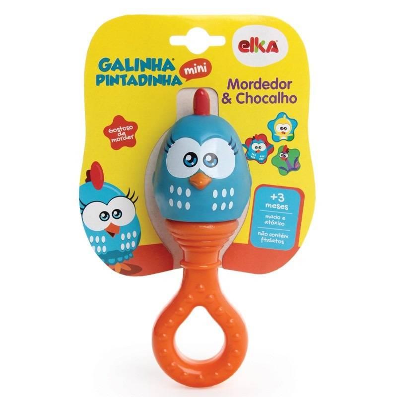 Mordedor e Chocalho Galinha Pintadinha - Elka 1053 - Noy Brinquedos