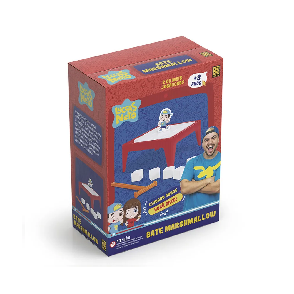 Jogo Bate Marshmallow Luccas Neto - Grow 3725 - Noy Brinquedos