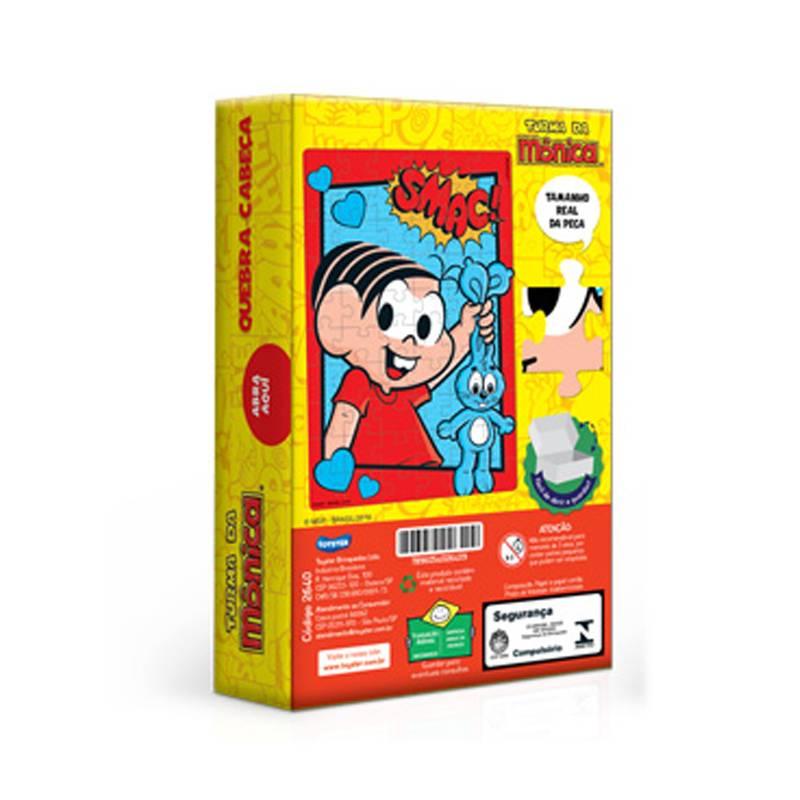 Mônica Quebra-Cabeça Turma da Mônica 60 peças - Toyster 2640 - Noy Brinquedos