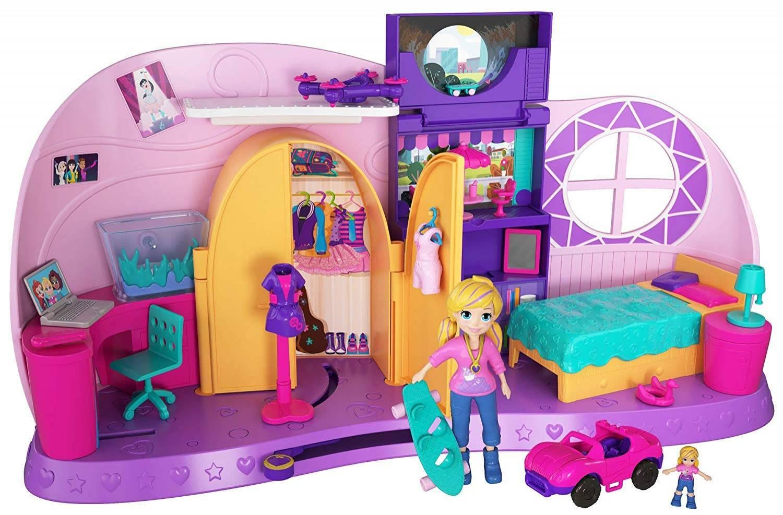 Quarto Da Polly Pocket - Mattel FRY98 - Noy Brinquedos