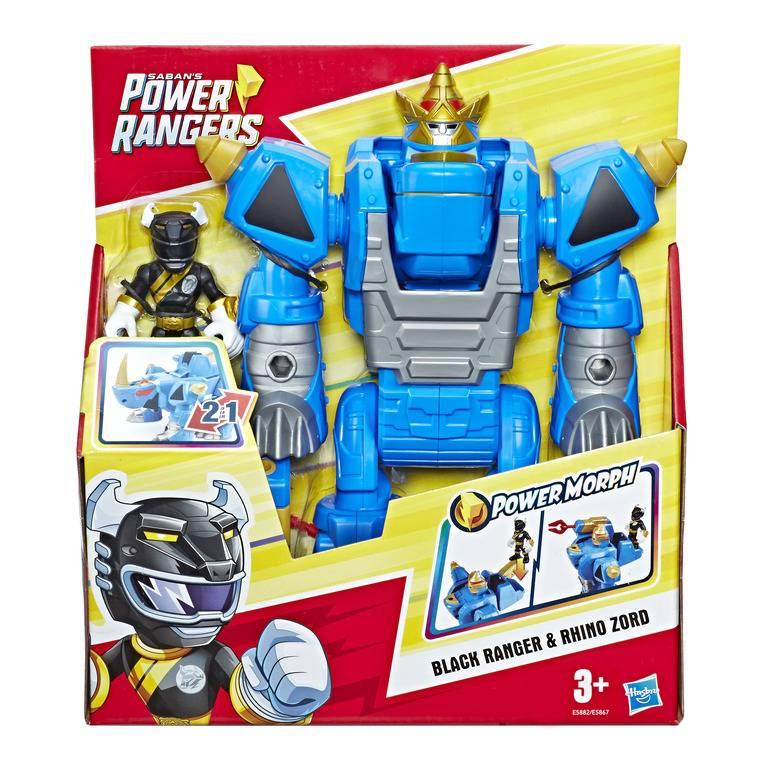 Boneco Rhino Zord Black Power Rangers Playskool - Hasbro E58 - Noy Brinquedos