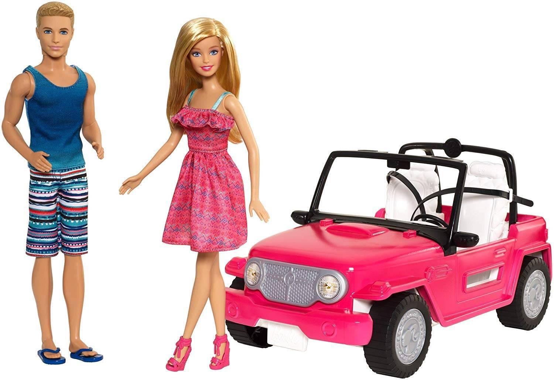 Carro de Praia da Barbie e Ken - Mattel CJD12 - Noy Brinquedos