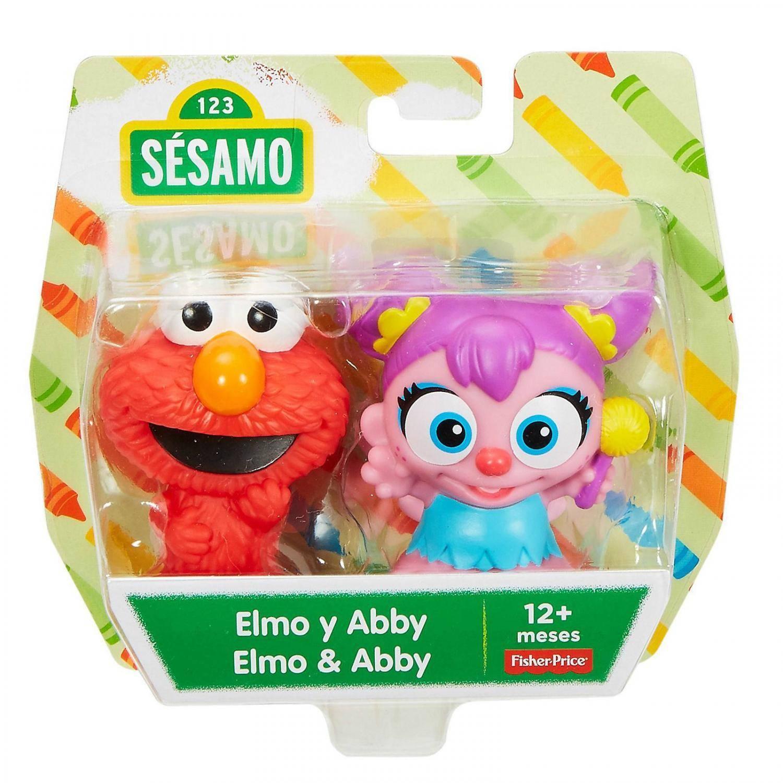 Pack com 2 Elmo e Abby Vila Sésamo - Mattel FTC29 - Noy Brinquedos