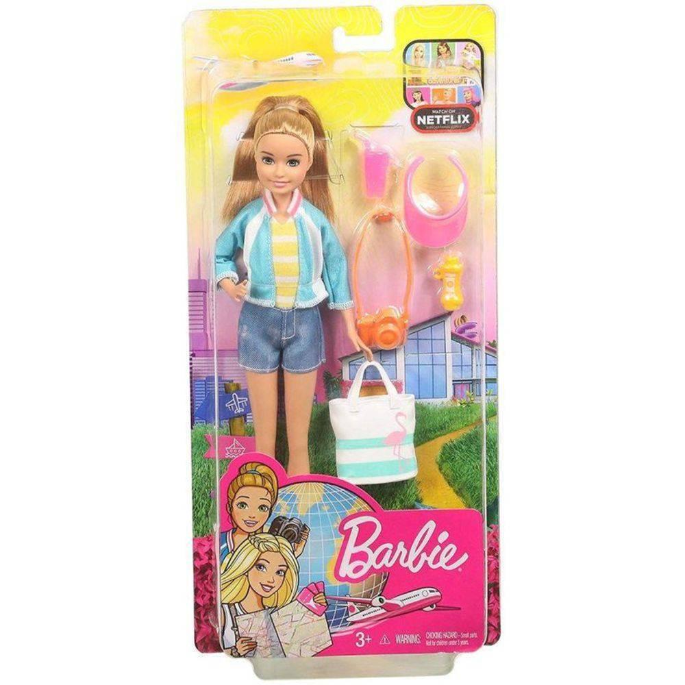 Boneca Barbie Stacie Explorar e Descobrir  - Mattel FWV16 - Noy Brinquedos