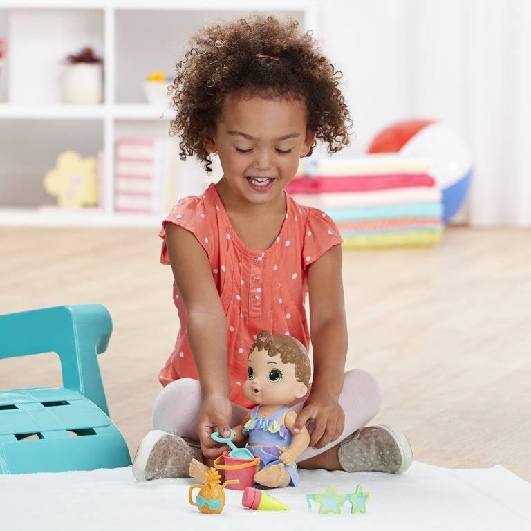 Boneca Baby Alive Sol e Areia Morena - Hasbro E8718 - Noy Brinquedos