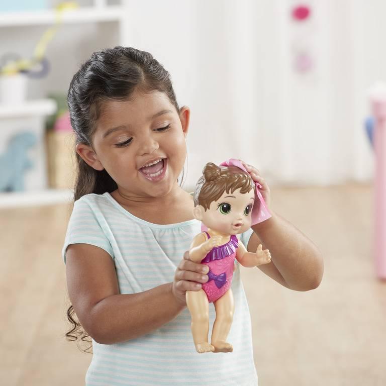 Boneca Baby Alive Banhos Carinhosos Morena - Hasbro E8722 - Noy Brinquedos