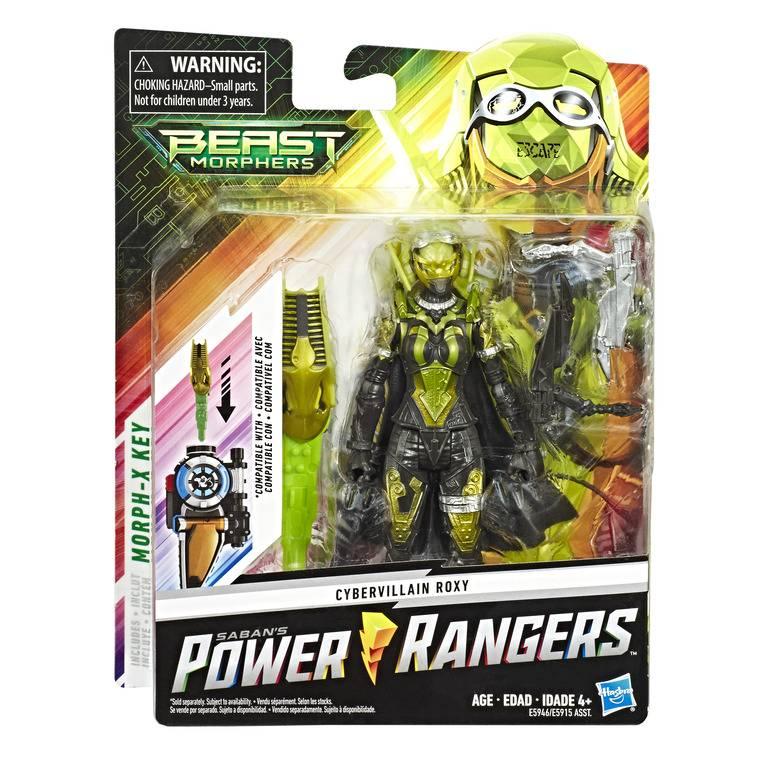 Boneco Cibervillain Roxy Power Rangers - Hasbro E5946 - Noy Brinquedos