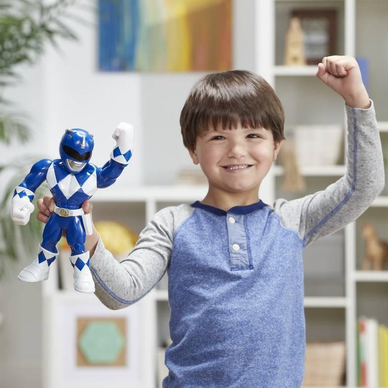 Boneco Azul Power Rangers Mega Mighties - Hasbro E5874 - Noy Brinquedos