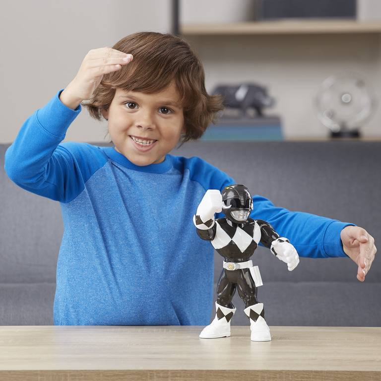 Boneco Preto Power Rangers Mega Mighties - Hasbro E5873 - Noy Brinquedos