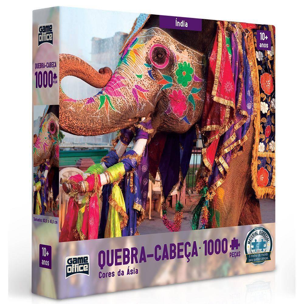 Índia Cores da Ásia 1000 PÇ - Toyster 2635 - Noy Brinquedos
