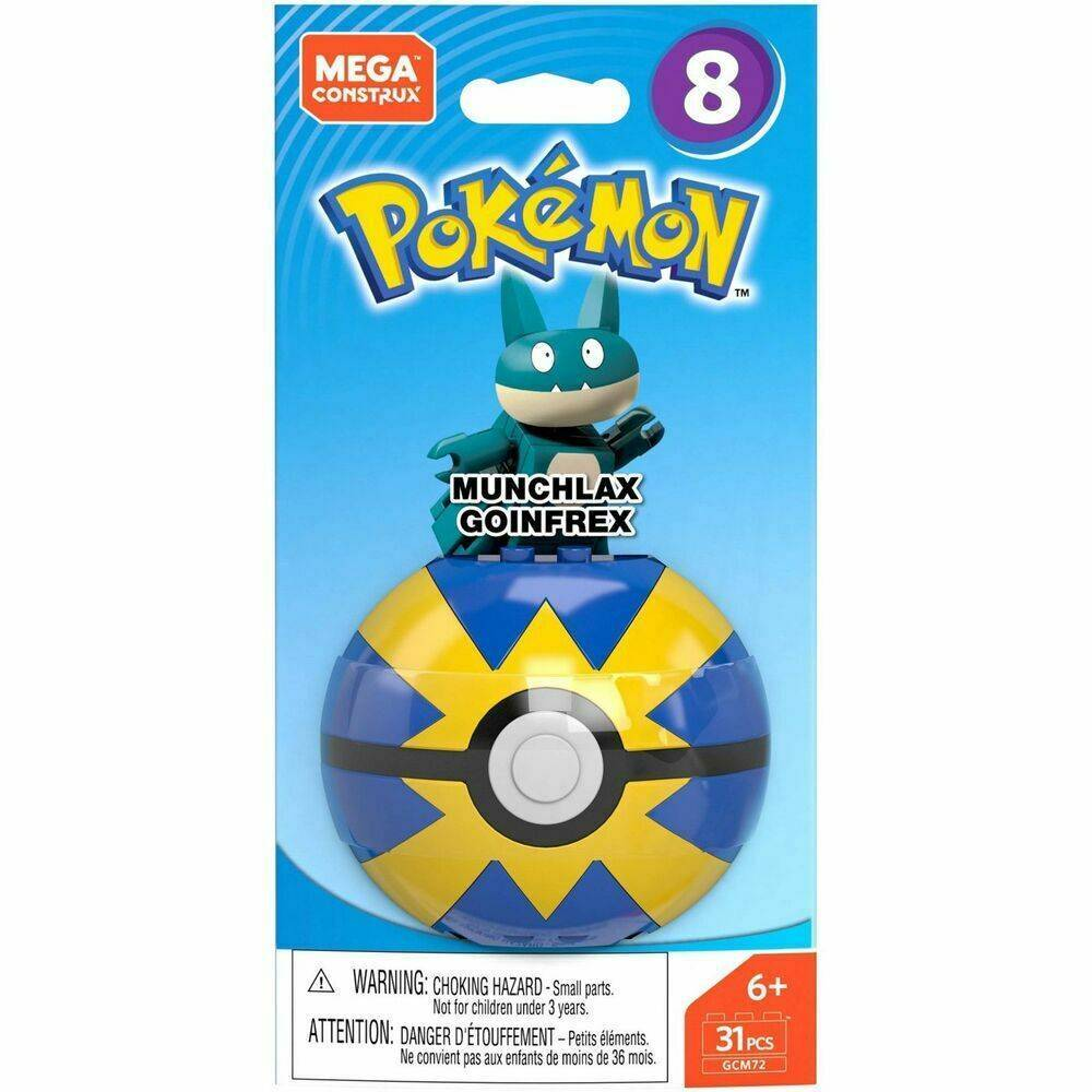 Munchlax Pokeball Mega Construx Pokémon - Mattel GCM72 - Noy Brinquedos