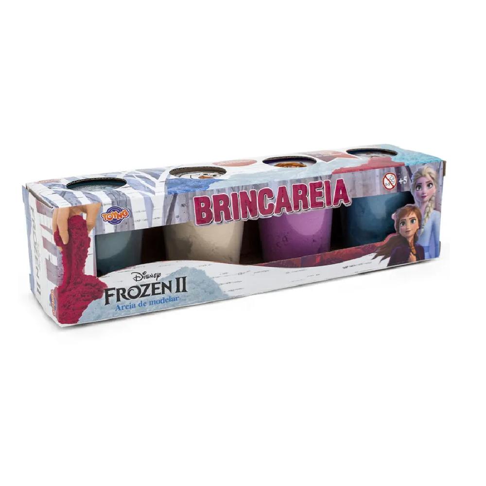 Kit 4 Potes Areia de Modelar Brincareia Frozen 2   - Toyng 0 - Noy Brinquedos